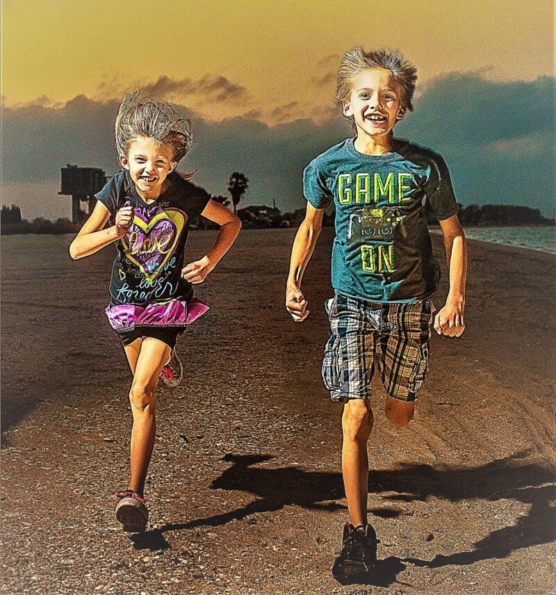 selbstverteidigung in brienz - running kids